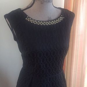 Gorgeous Ellen Tracy Jacquard Print Dress